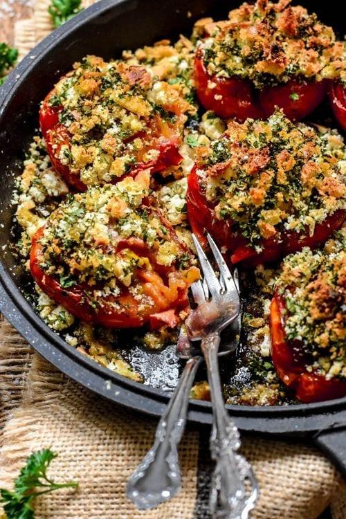 Tomates à la provençale - Entradas de comida francesa
