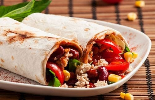 Burritos, comida mexicana