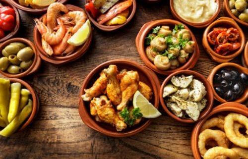 Tapas tipicas en la gastronomia española