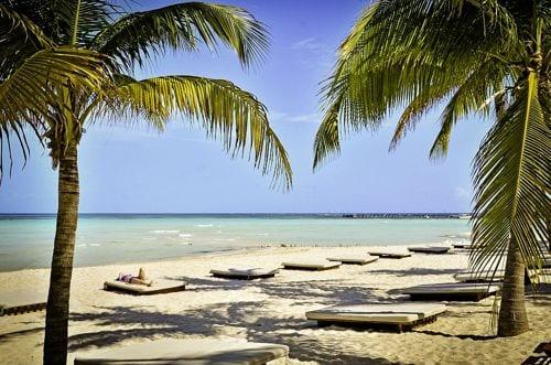 playas en el lado norte de Cancun