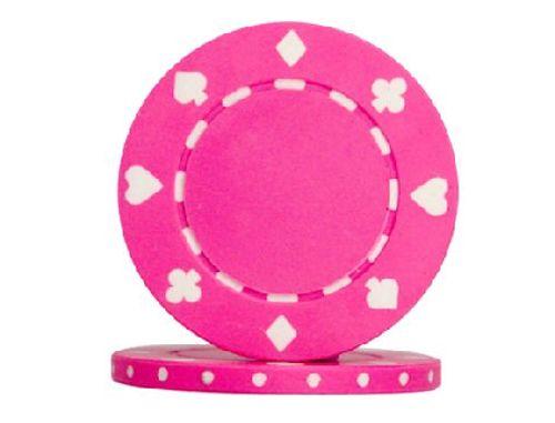 valor de Ficha de casino rosa