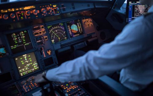 partes de una cabina de avion