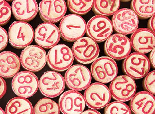 Fichas de juego de bingo